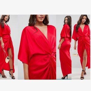 BRAND NEW ASOS Kimono Twist Front Maxi Dress | 6